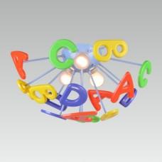 Dětské stropní svítidlo ABC 3xE14/40W,barevný