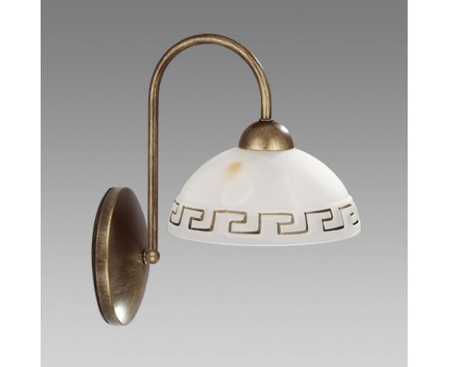 Nástěnné svítidlo 877 POMPEZ 1xE14/40W, Hnědá, Zlatý alabastr, Dekor