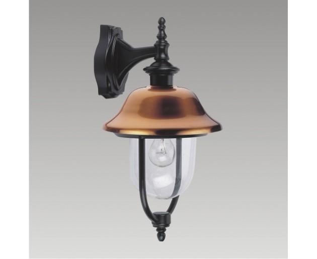 Venkovní lampa Sanghai 3048 1xE27/60W,IP44, Měď, Černá
