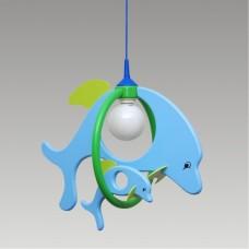 Prezent Dolphin 28115 FAMILY 1xE27/60W, Modrá