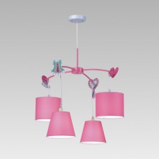 Dětské svítidlo Prezent Carousel 28027 4xE14/40W, Růžová