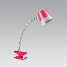 Luxera 26051 klipem Vigo LED/4W, 4000K, Růžová, Šedá