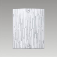 BAMBOO 1xE27/60W, 300x240, Bílá,  Chróm, Matná bílá