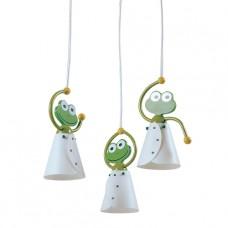 Prezent Frog 28001 3xE14/40W, Zelená, Bílá