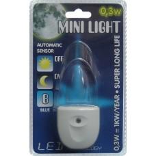 MINI LIGHT QT-LED006 0,3W, Modrá