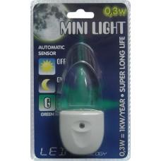 MINI LIGHT QT-LED006 0,3W, Zelená