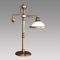 Stolní lampa Prezent Orion 30012 1xE27/60W, Mosaz, Opál