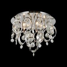 Křišťálové stropní svítidlo Luxera TARGA 64385, Chróm
