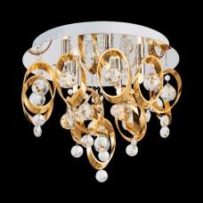 Křišťálové stropní svítidlo TARGA 64386 5xG9/33W/230V zlaté