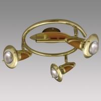 Bodové svítidlo Zeus BS/DW 3xE14/R50/40W 336 Zlatá, Hnědá