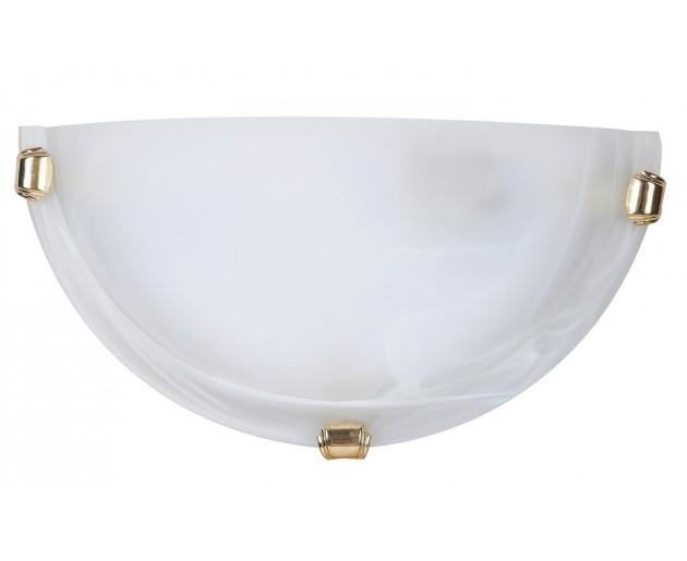Nástěnné svítidlo Alabastro 3001 Bílá, Zlatá, Alabastr