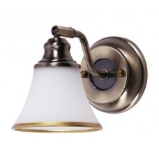Koupelnové nástěnné svítidlo Grando 6545 Bronz, Bílá