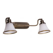 Koupelnové nástěnné svítidlo Grando 6546 Bronz, Bílá