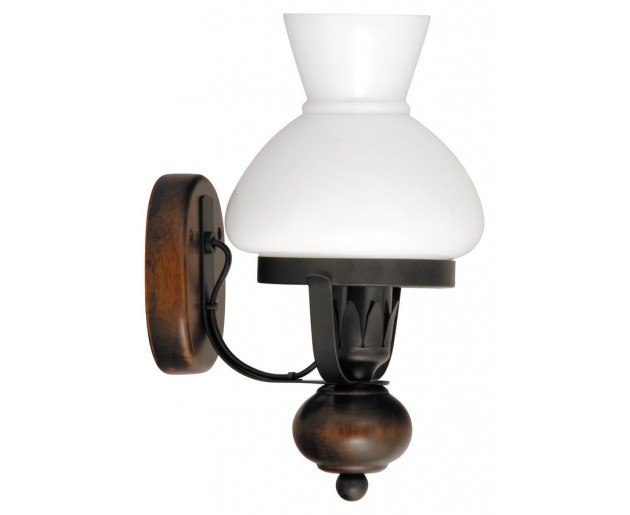 Nástěnné svítidlo Petronel 7077 Černá, Hnědá, Bílá