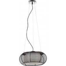 Závěsný lankový lustr Rabalux Mira 7179 Chróm, Černá