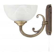 Nástěnné svítidlo 8541 Marlene Bronz, Bílý alabastr
