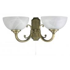 Nástěnné svítidlo Marlene 2 8542 Bronz, Bílý alabastr