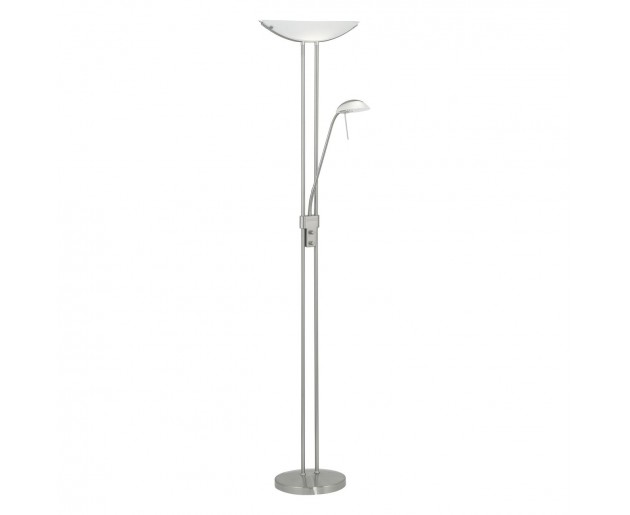 Stojací svítidlo - lampa EGLO 85971 BAYA Chróm, Bílá
