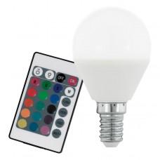 Zdroj-E14-P45 RGBW 4W vč. ovladače, Barevná