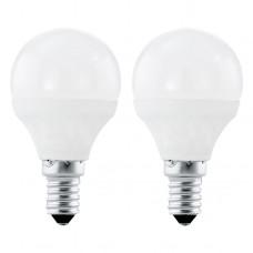 Zdroj-E14-LED P45 4W 3000K, Bílá