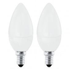 Zdroj-E14-LED svíčka 4W 3000K, Bílá