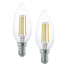 Zdroj-E14-LED svíčka 4W 2700K, Bílá