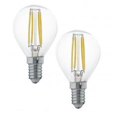 Zdroj-E14-LED P45 4W 2700K, Žlutá