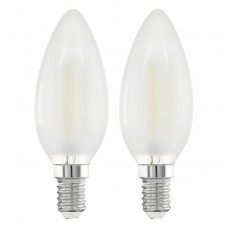 Zdroj-E14-LED svíčka 4W MATT 2700K, Bílá