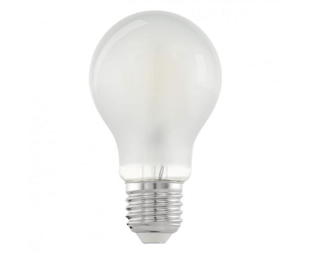 Zdroj-E27-LED A60 6W MATT 2700K, Bílá