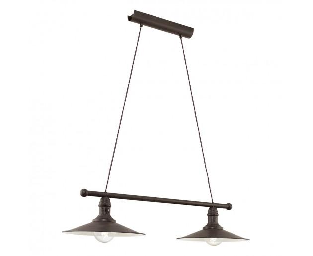 Závěsné svítidlo Eglo Stockbury 49457 Hnědá