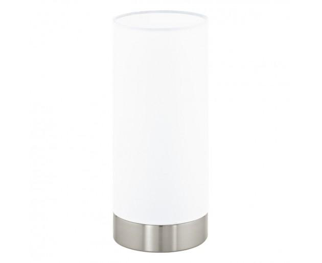 Stolní svítidlo EGLO Pasteri EG95118 Chróm, Bílá