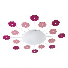 Stropní svítidlo Eglo 92147 VIKI 1 Bílá, Růžová