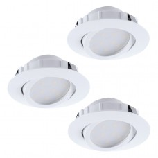 Eglo 95851 - SADA 3x LED podhledové svítidlo PINEDA 3xLED/6W/230V