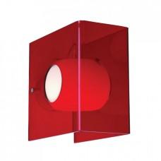 Nástěnné svítidlo Luxera Fedra 18019 1XG9/40W, Průhledná, Červená