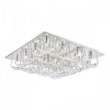 Stropní svítidlo Luxera Bacarat 64315 20xG4/20W, Chróm, Čiré sklo