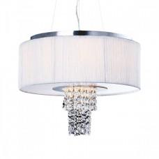 Závěsné svítidlo Luxera 33500 PASHMINA 6xE14/40W, Chróm, Černá, Opál