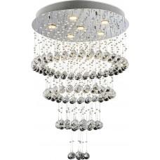 Křišťálový přisazený lustr Luxera Chorum 62414 6xGU10/50W, Ocel