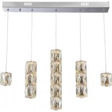 Křišťálový lustr Luxera Polar 62403 LED/39W,3000K, Nerezová ocel, Křišťál
